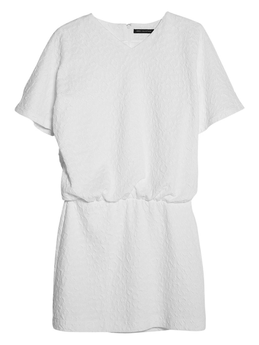 mango textured butterfly sleeve dress natural white, mango, textured, butterfly, sleeve, dress, natural, white, 10|12, clearance, womenswear offers, womens dresses offers, women, inactive womenswear, new reductions, womens dresses, special offers, 1657484