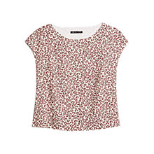 Buy Mango Leopard Print Top, Natural White Online at johnlewis.com