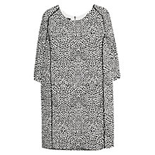Buy Mango Animal Print Shift Dress, Natural White Online at johnlewis.com
