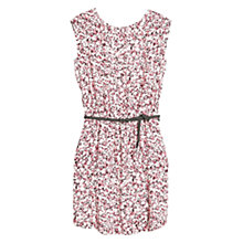 Buy Mango Print Waist Belt Dress, Pink Online at johnlewis.com
