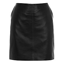 Buy Oasis Laurie Leather Mini Skirt, Black Online at johnlewis.com