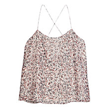 Buy Mango Criss Cross Strap Top, Natural White Online at johnlewis.com