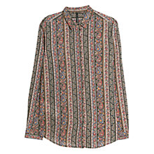 Buy Mango Paisley Print Shirt, Black / Multi Online at johnlewis.com