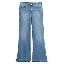 Buy Mango Nmartina Mid-Rise Bootcut Jeans, Medium Blue Online at johnlewis.com