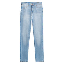 Buy Mango London High Waist Jeans, Medium Blue Online at johnlewis.com