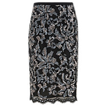 Buy Mint Velvet Embellished Pencil Skirt, Grey Online at johnlewis.com