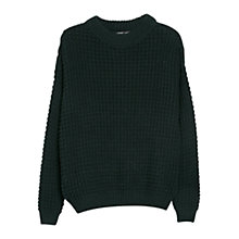 Buy Mango Chunky Knit Jumper, Medium Green Online at johnlewis.com