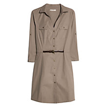 Buy Mango Belted Shirt Dress, Dark Grey Online at johnlewis.com