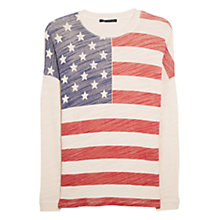 Buy Mango Flag Sweatshirt, Natural White Online at johnlewis.com