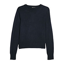 Buy Mango Alpaca Wool Blend Sweater, Navy Online at johnlewis.com