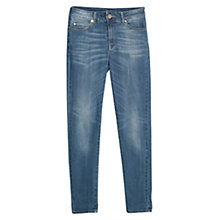 Buy Mango High Waist London Jeans, Navy Online at johnlewis.com