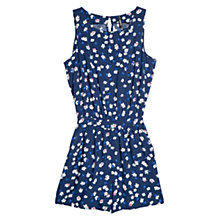 Buy Mango Floral Print Short Jumpsuit, Navy Online at johnlewis.com
