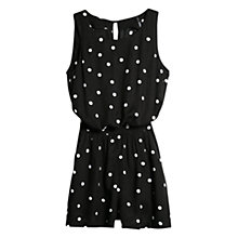 Buy Mango Printed Short Jumpsuit, Black Online at johnlewis.com