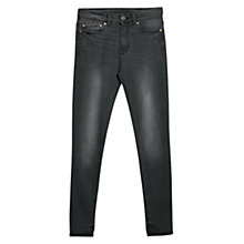 Buy Mango High Waist Broadway Jeans, Dark Grey Online at johnlewis.com