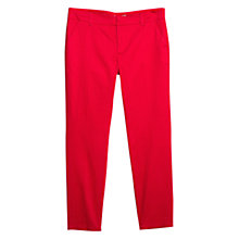 Buy Mango Slim Fit Cotton Trousers, Bright Red Online at johnlewis.com