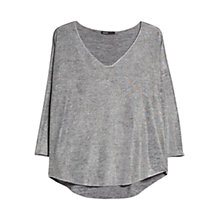 Buy Mango Metallic Dropped Shoulder T-Shirt, Medium Grey Online at johnlewis.com