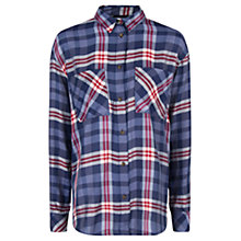 Buy Mango Chest Pocket Check Print Shirt, Navy Online at johnlewis.com