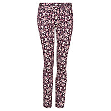 Buy Mango Flower Print Trousers, Navy Online at johnlewis.com