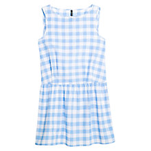 Buy Mango Gingham Check Dress, Medium Blue Online at johnlewis.com