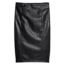 Buy Mango Faux Leather Pencil Skirt, Black Online at johnlewis.com