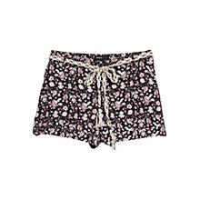 Buy Mango Floral Print Shorts, Navy Online at johnlewis.com