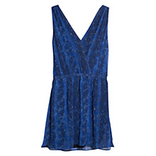 Buy Mango Snake Print Dress, Medium Blue Online at johnlewis.com