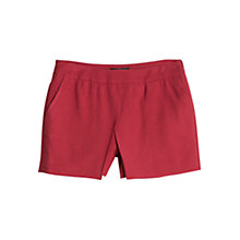 Buy Mango Wrap Shorts, Dark Red Online at johnlewis.com