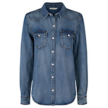 Buy Mango Denim Overshirt, Medium Blue Online at johnlewis.com