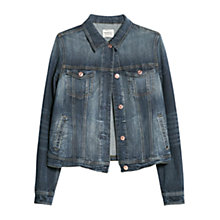 Buy Mango Denim Jacket, Navy Online at johnlewis.com