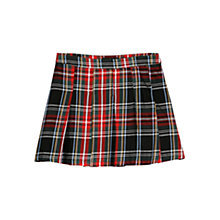 Buy Mango Plaid Pleated Skirt, Bright Red Online at johnlewis.com