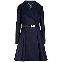 Buy Ted Baker Flared Skirt Coat, Navy Online at johnlewis.com