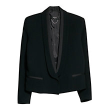 Buy Mango Shawl Collar Blazer Jacket, Black Online at johnlewis.com