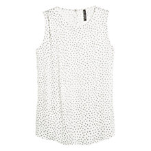 Buy Mango Printed Flowy Blouse, Natural White Online at johnlewis.com