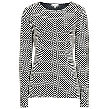 Buy Reiss Anja Jacquard Top, Navy/Cream Online at johnlewis.com