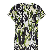 Buy Reiss Ellie Print Fluid Floral Top, Juliet Online at johnlewis.com