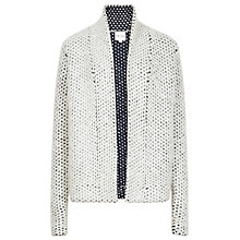Buy Reiss Mave Textured Chunky Cardigan, Cream/Navy Online at johnlewis.com