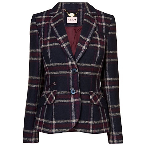 Buy Phase Eight Esther Jacket, Navy/Beaujolais Online at johnlewis.com