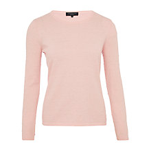 Buy Viyella Petite Crew Neck Bobble Jumper, Powder Pink Online at johnlewis.com