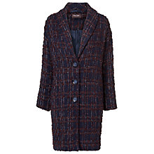 Buy Phase Eight Caroline Check Coat, Navy/White Online at johnlewis.com
