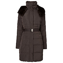 Buy Phase Eight Freya Puffer Coat, Bitter Chocolate Online at johnlewis.com