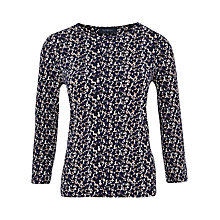 Buy Viyella Blurred Print Jersey Top, Ultra Violet Online at johnlewis.com