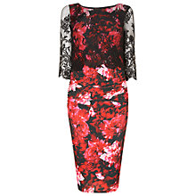 Buy Phase Eight Amelia Lace Dress, Black/Ruby Online at johnlewis.com