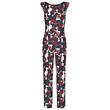 Buy Reiss Sierra Floral-Print Jumpsuit, Winter Roseprint Online at johnlewis.com