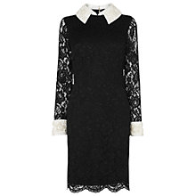 Buy Phase Eight Sienna Embellished Lace Dress, Black Online at johnlewis.com