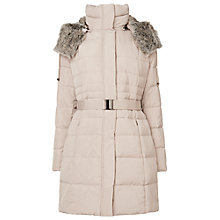 Buy Phase Eight Freya Puffa Coat, Champagne Online at johnlewis.com