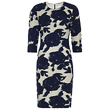 Buy Reiss Leila Fitted Floral Dress, Dark Navy Online at johnlewis.com