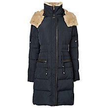 Buy Phase Eight Peta Quilted Coat, Navy Online at johnlewis.com
