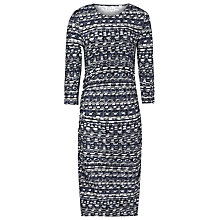 Buy Reiss Hudson Abstract Print Dress, Ocean Online at johnlewis.com