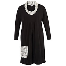 Buy Chesca Floral Jacquard Jersey Dress, Black Online at johnlewis.com