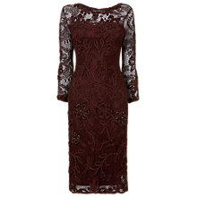 Buy Phase Eight Fortuna Tapework Dress, Aubergine Online at johnlewis.com